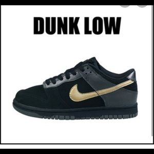Air dunk black and gold